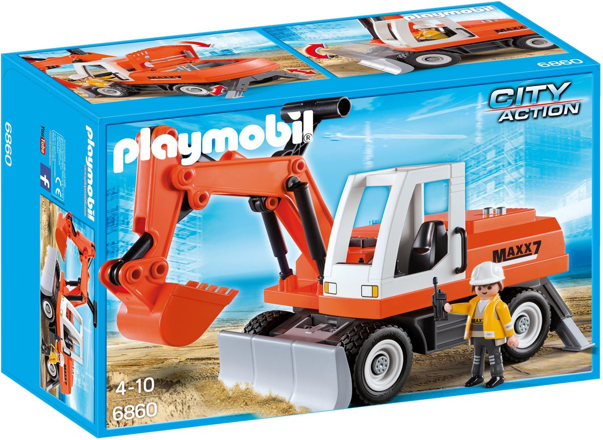 Playmobil City Action Sleepgraver met verstelbaar blad - 6859