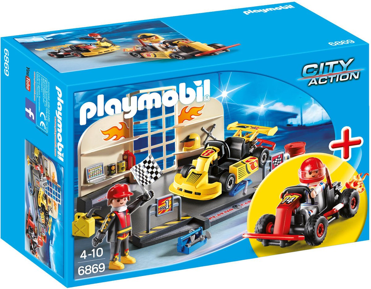 Playmobil City Action StarterSet Karting garage - 6889