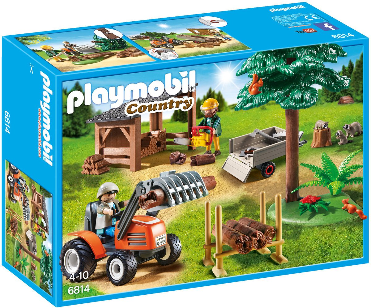 Playmobil Country Houthakker met tractor - 6927