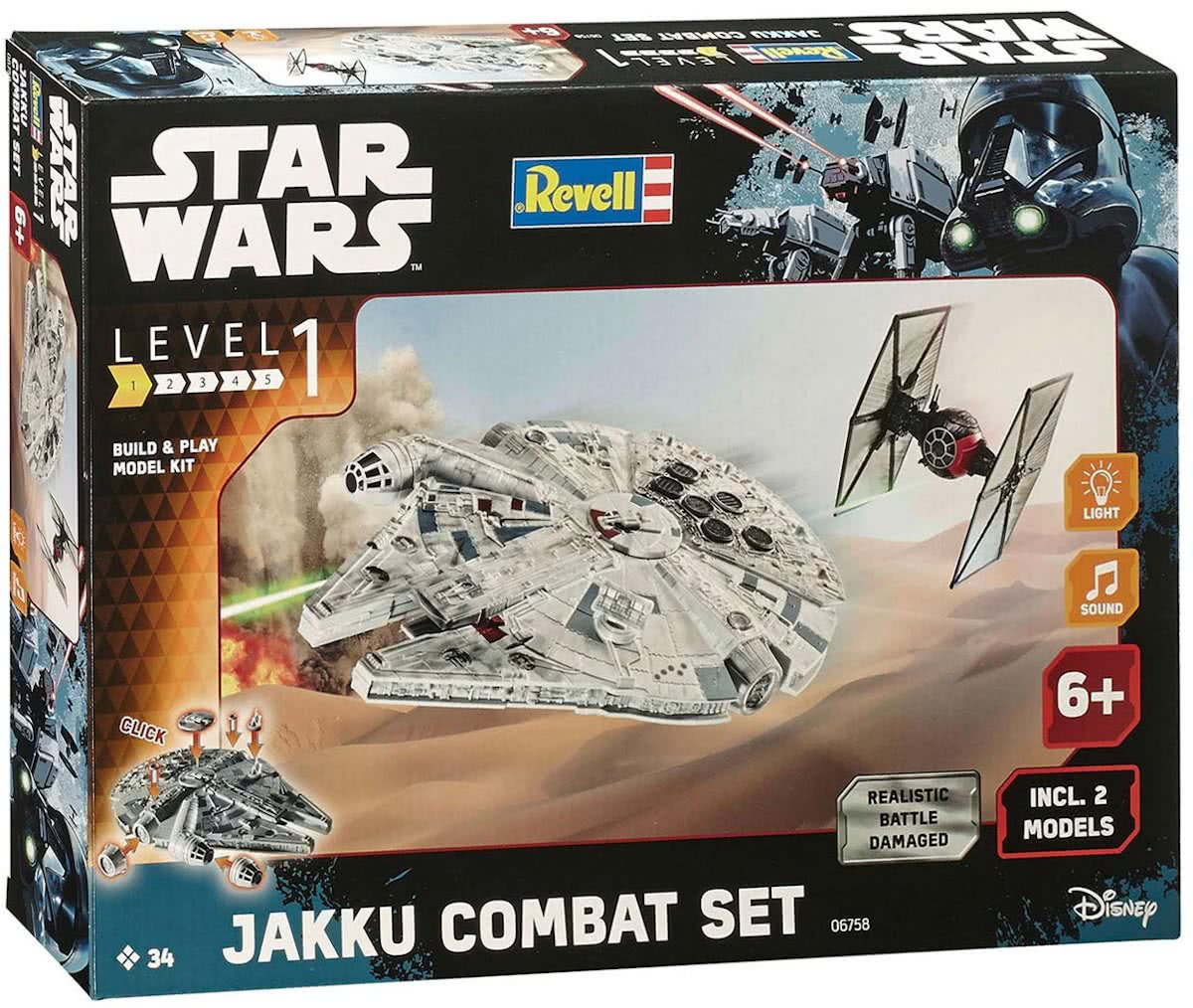 Revell Build & Play Star Wars - Jakku Combat Set