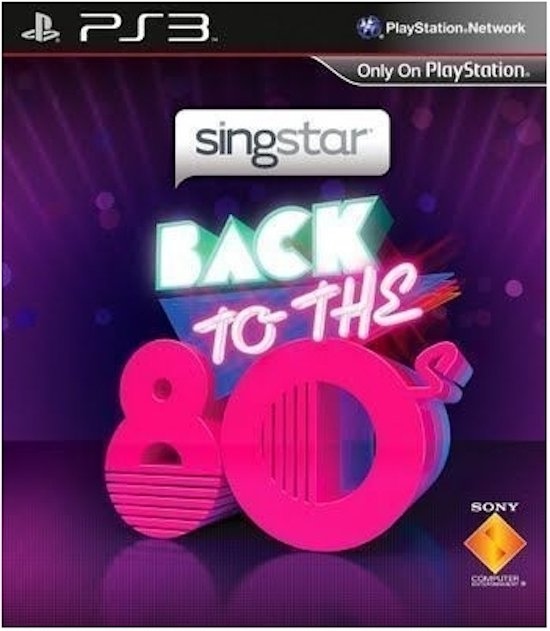 Sony SingStar Back to the 80s Basis PlayStation 3 Engels video-game