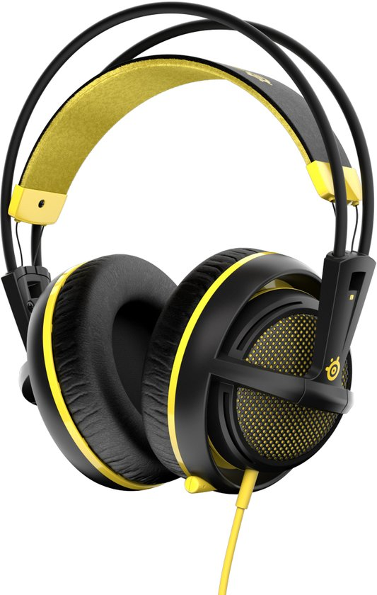 SteelSeries Siberia 200 - Gaming Headset - Proton Yellow - PC + PS4 + MAC + Xbox One + PS3 - Accessoires
