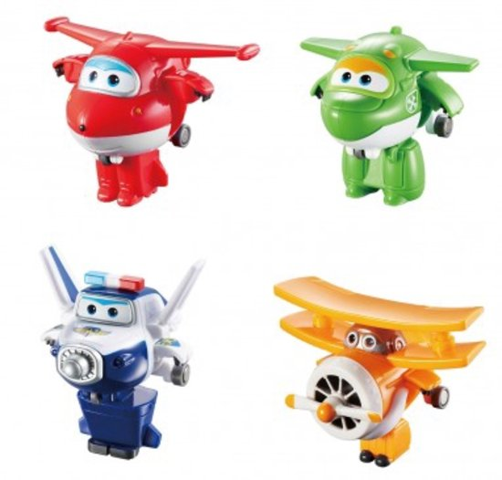 Super Wings Speelfiguren Mini Jett、Albert、Mira、Paul