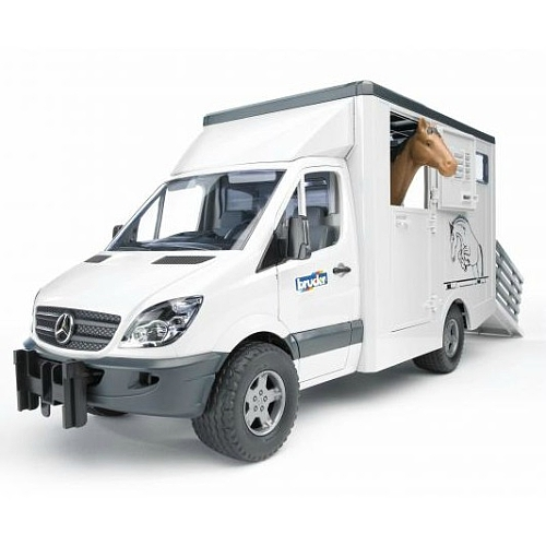 Bruder - mercedes benz sprinter dierentransport incl. 1 paard -   02533