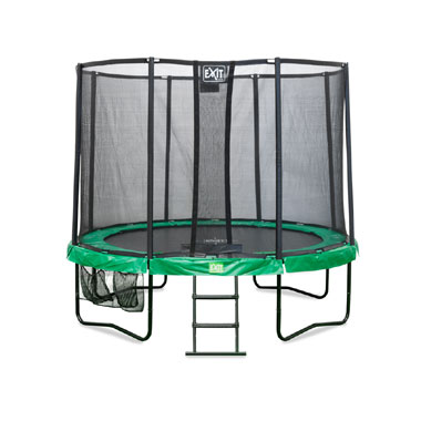 EXIT JumpContour all-in-1 trampoline rond - 244 cm - groen