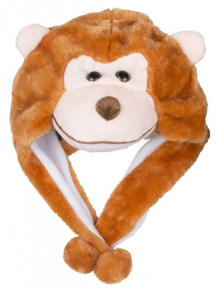 Eddy Toys Dierenmuts pluche aap bruin