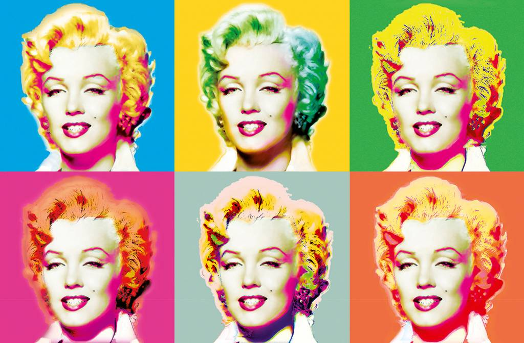 Fotobehang Visions of Marilyn - Poster XXL - 175 x 115 cm - Multi colour