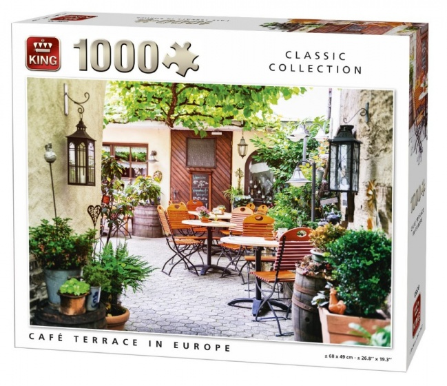 King legpuzzel Cafe Terrace in Europe 1000 stukjes