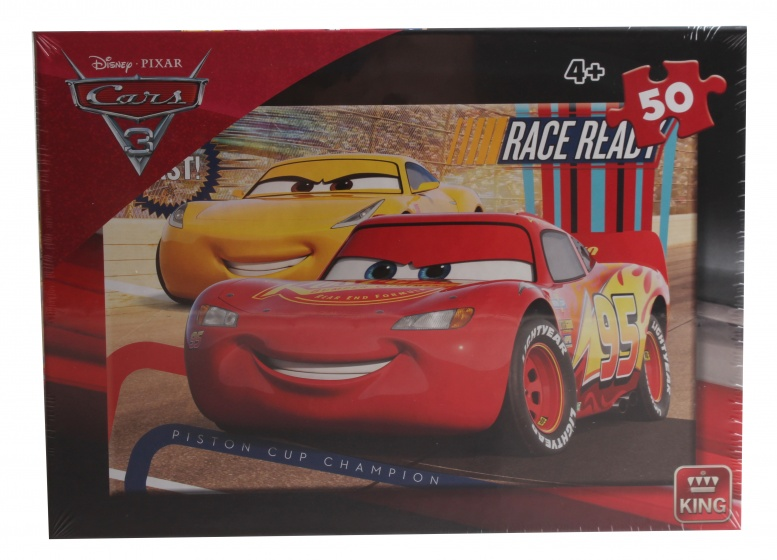 King legpuzzel Disney Cars Race Ready 50 stukjes