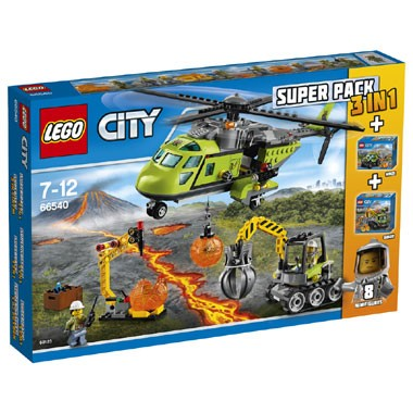 LEGO 66540 City Vulkaan 3-in-1 valuepack