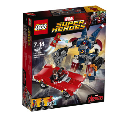 LEGO Marvel Super Heroes Iron Man: Detroit Steel valt aan 76077