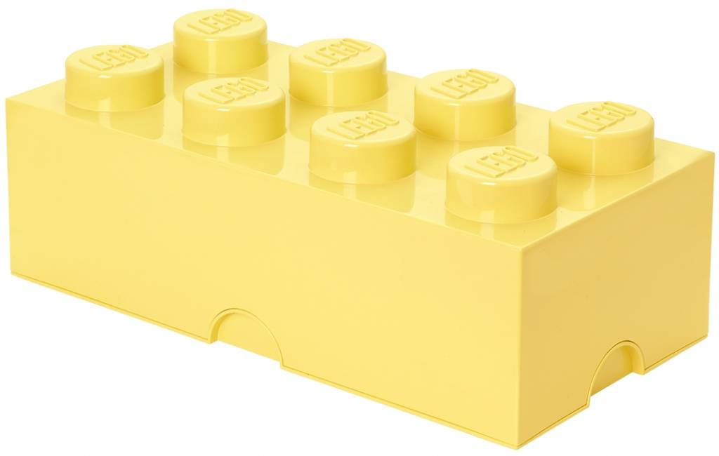 LEGO Opbergbox: brick 8 (12 ltr) geel Cool