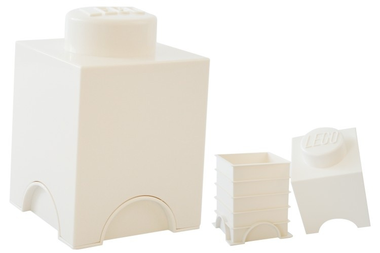 Lego Storage Brick 1 (1,2L) Wit