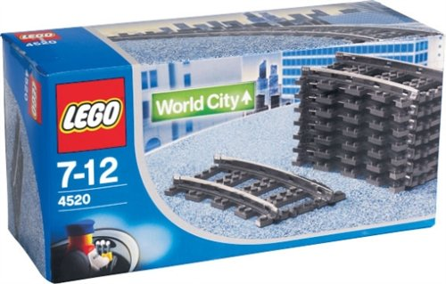 Lego World City rails bochten 9V - 4520