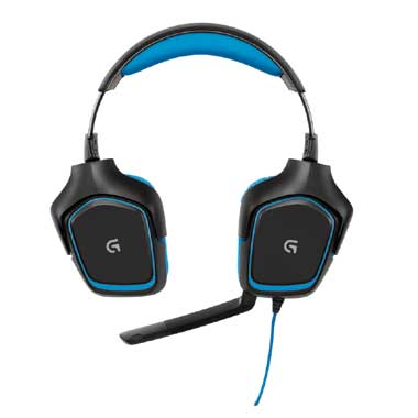 G430 gaming headset blauw