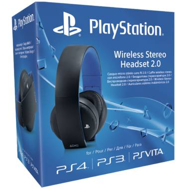 PlayStation Wireless Stereo Headset 2.0. PS3/PS4 - Zwart