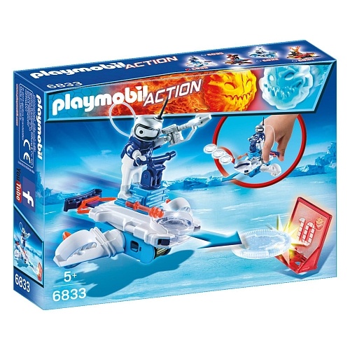 Playmobil - icebot met disc-shooter - 6833