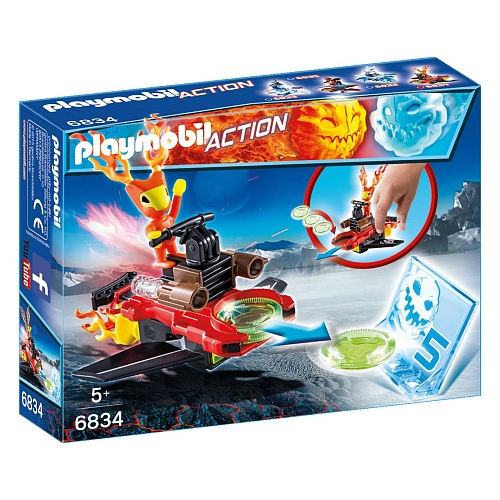Playmobil - sparky met disc-shooter - 6834