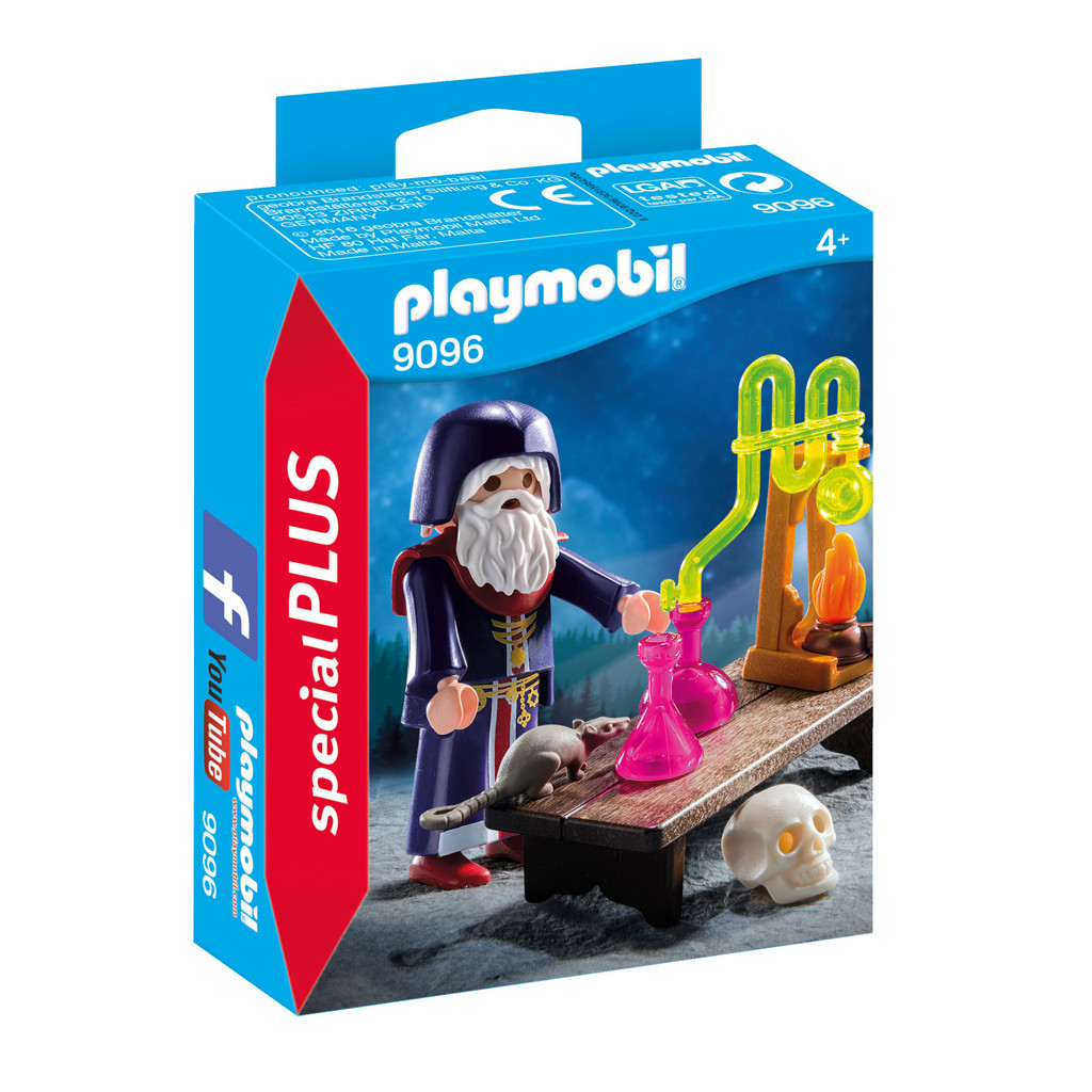 Playmobil 9096 Tovenaar Met Laboratorium
