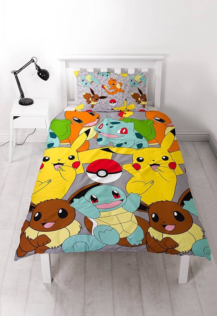 Pokemon Catch -   - Eenpersoons - 135 x 200 cm - Multi