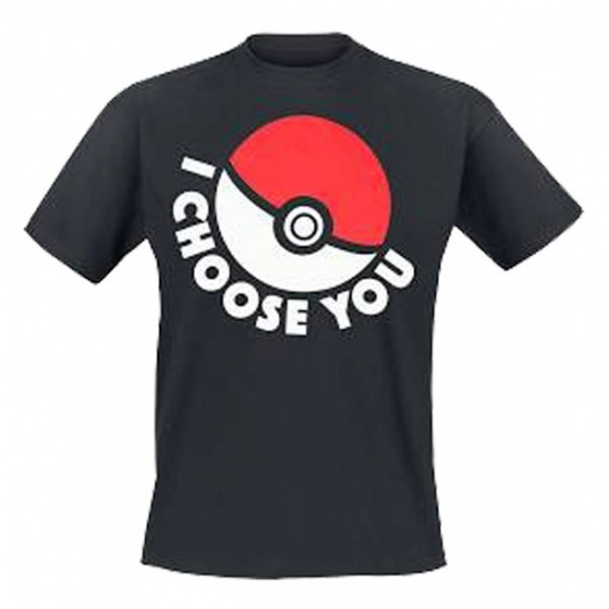 T shirt I Choose You Unisex Zwart Maat L