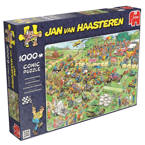 Puzzel Jan Van Haasteren Lawnmore race 1000st