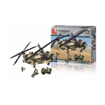 M38-B0508 Bouwstenen Army Series Transporthelikopter
