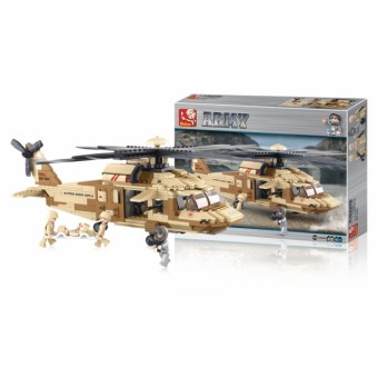 M38-B0509 Bouwstenen Army Series Utility-helikopter