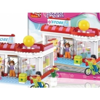 M38-B0529 Bouwstenen Girls Dream Series Supermarkt