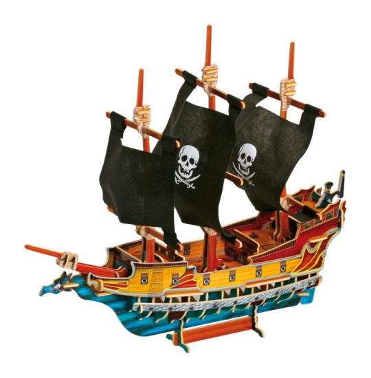 Small Foot 3D Puzzel Piratenschip 75 Delig