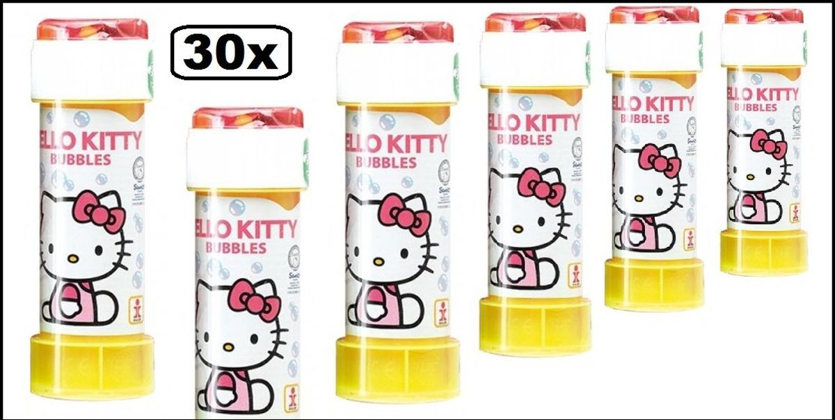 30x Hello Kitty bellenblaas 60 ml