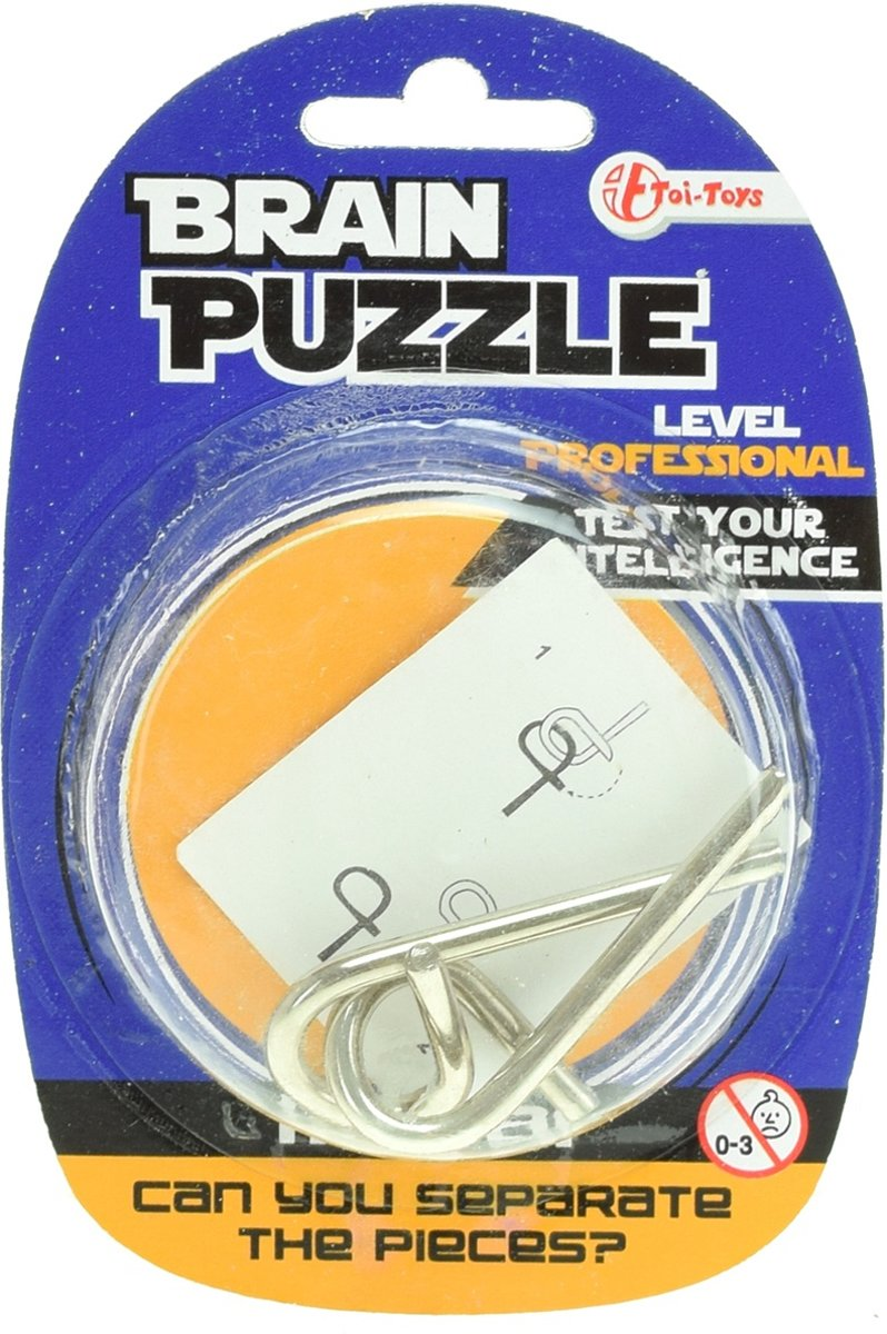 Toi-toys Hersenkraker Brain Puzzle Professional Zilver