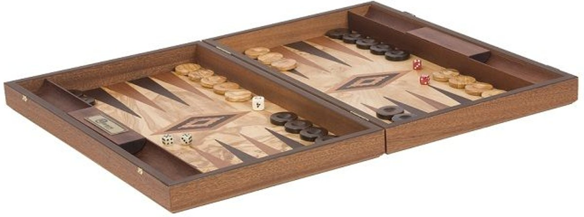 Uber Olijfboomhouten robuuste backgammon set