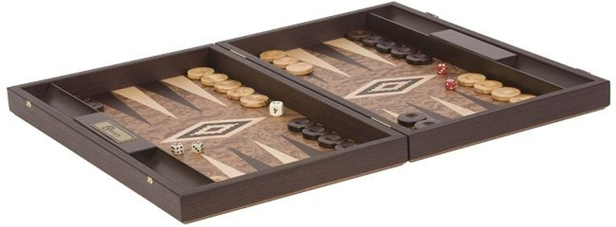 Uber Walnoot  houten robuuste  Backgammon set