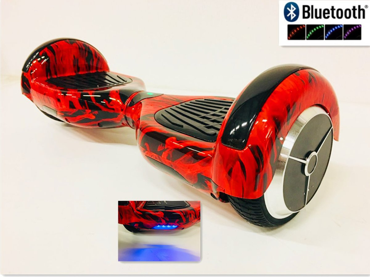 Hoverboard 6.5 INCH Red-Flame  Bluetooth ,TaoTao